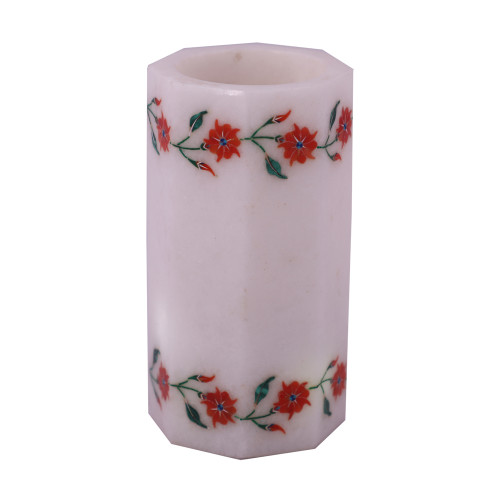 Handmade White Marble Antique Candle Holders For Home Decor
