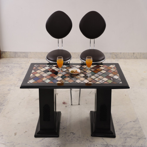 Handmade Beautiful Handicrafts Black Marble Coffee Table For Office