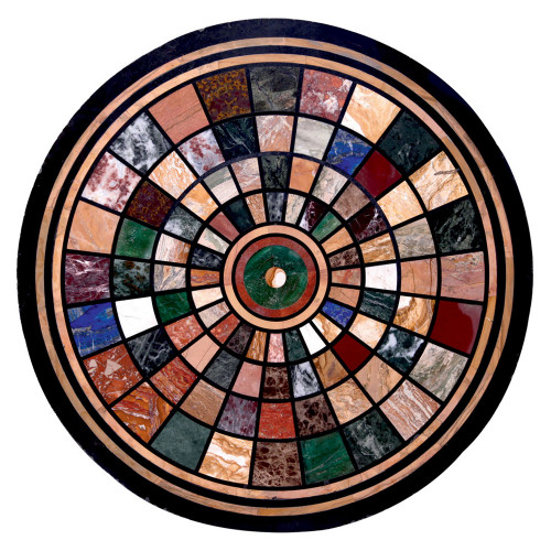 Cagliari Coffee Table Top Black Marble Table Top Inlaid With Semi Precious Gemstones Center Table Pietra Dura Inlay Work For Home Decor