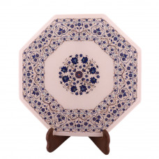 Beautiful Design Inlay White Marble Corner Table For Home Decor