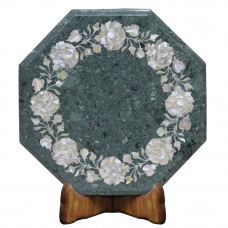Unique Design Green Marble Side Table Top