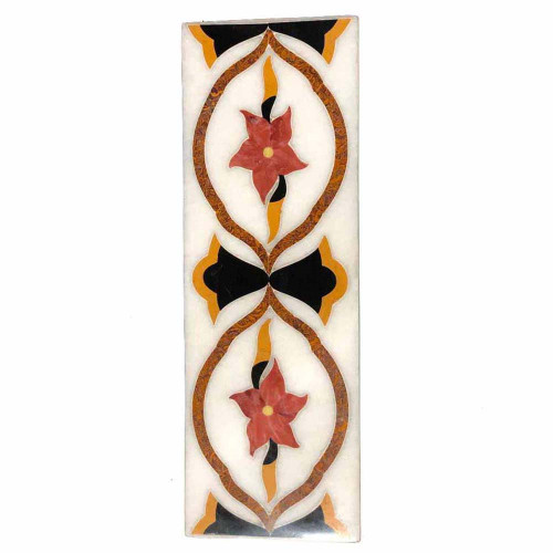 Mosaic Art Inlay White Marble Kitchen Tiles