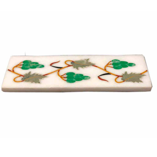 White Marble Kitchen Tiles Inlaid Pietra Dura Art Work