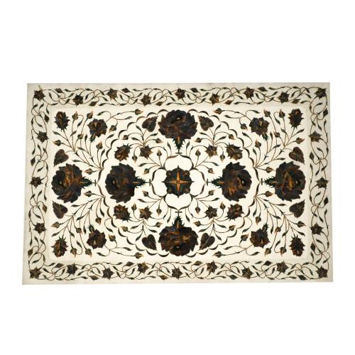 Handmade Marble Inlay Wall Decorative Platter Pietra Dura Work