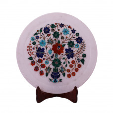 Beautiful Decorative White Marble Plate For Home Decor