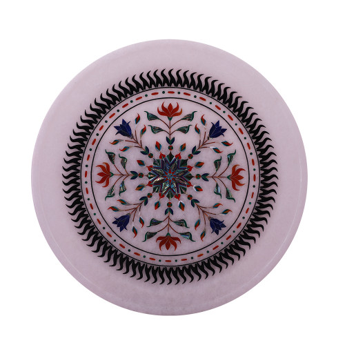 Beautiful Design Inlay White Marble Wall Plate