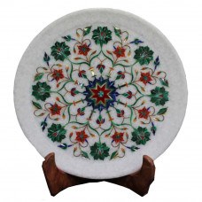 Fine Decorative White Marble Wall Decorative Plate For Home