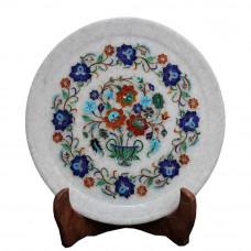 Marble Vintage Art White Plate For Home Decor