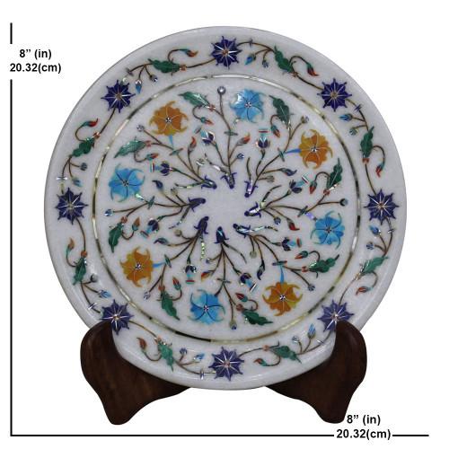 White Marble Plaque Paradise Indian Stone Art Work