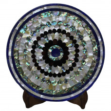 Beautiful White Marble Plate For Italian Round Table Top