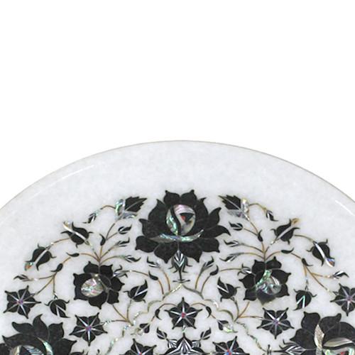 Beautiful Marble Plate For Italian Coffee Table Tajmahal Art