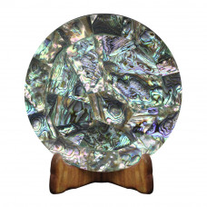 Beautiful White Marble Plate Inlaid Semi Precious Stone