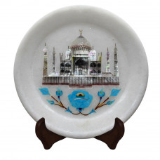 Marble Inlay Decorative Wall Plate
