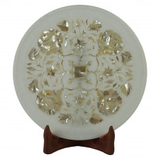 Rare And Classic Mosaic Art Wall Plate Inlay Mother Of Pearl Stone