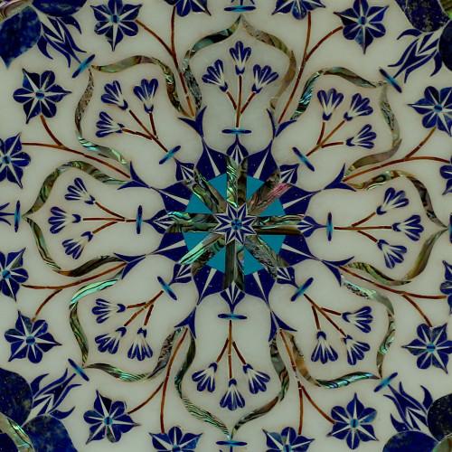 Attractive Wall Plate Best Use Lapislazuli Stone Floral Design