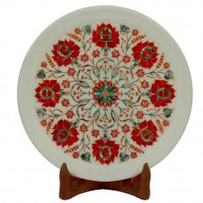Wall Plate Pietra Dura Art Its A Rare Art Inlaid Semiprecious Stone