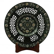 Lattice Black Marble Wall Plate Fine Handmade Work